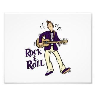 rock n roll guy playing guitar purple.png photo