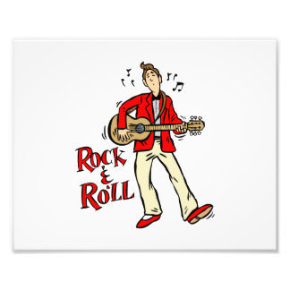 rock n roll guy playing guitar red.png photo art