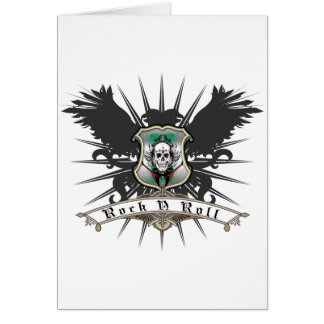 Rock n Roll Heraldry Greeting Cards