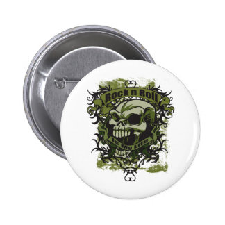 Rock n Roll is my Life Skull 2 Inch Round Button