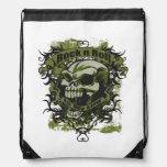 Rock n Roll Is My Life Skull Drawstring Bag Cinch Bags