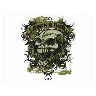 Rock n Roll is my Life Skull Postcard