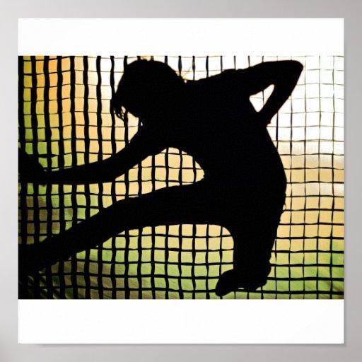 rock n roll jump silhouette print