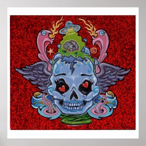 'Rock n' Roll Lobotomy' art print- (pop surreal)