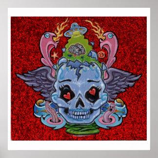 'Rock n' Roll Lobotomy' art print- (pop surreal) Poster