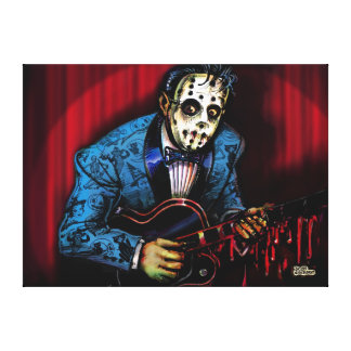 Rock n Roll Maniac Rockabilly Canvas Print