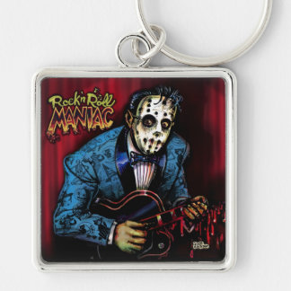 Rock n Roll Maniac Rockabilly Keychain