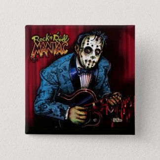 Rock n Roll Maniac Rockabilly Pinback Button