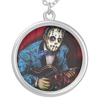 Rock n Roll Maniac Rockabilly Silver Plated Necklace