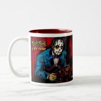Rock n Roll Maniac Rockabilly Two-Tone Coffee Mug