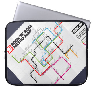 Rock 'n Roll Metro Map (History of Rock Music) Computer Sleeve
