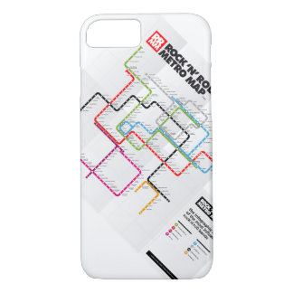 Rock 'n Roll Metro Map (History of Rock Music) II iPhone 7 Case