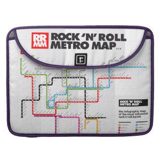 Rock 'n Roll Metro Map (History of Rock Music) II Sleeve For MacBooks