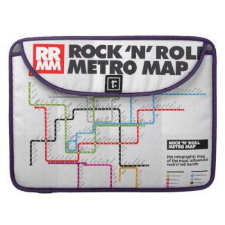 Rock 'n Roll Metro Map (History of Rock Music) III Sleeve For MacBooks