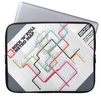 Rock 'n Roll Metro Map (History of Rock Music) Laptop Sleeve