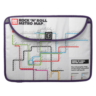 Rock 'n Roll Metro Map (History of Rock Music) Sleeve For MacBooks