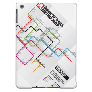 Rock 'n Roll Metro Map (History of Rock Music) V Case For iPad Air