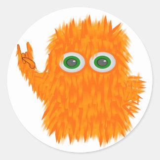 Rock N Roll Monster Round Sticker