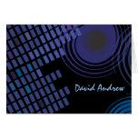 Rock n Roll Musical Bar Bat Mitzvah Thank You Card Note Card