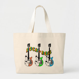 Rock N Roll Neon Electric Guitar Music Canvas Bags