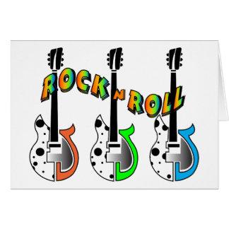Rock N Roll Neon Electric Guitar Music Greeting Card