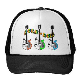 Rock N Roll Neon Electric Guitar Music Mesh Hats