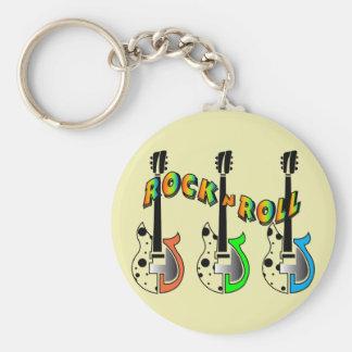 Rock N Roll Neon Electric Guitar Music Key Chains