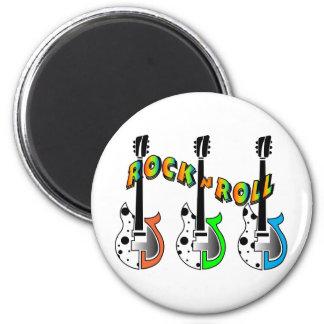Rock N Roll Neon Electric Guitar Music Fridge Magnet