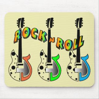 Rock N Roll Neon Electric Guitar Music Mousepads