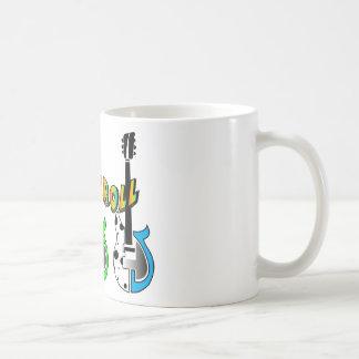 Rock N Roll Neon Electric Guitar Music Coffee Mug