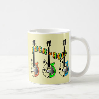 Rock N Roll Neon Electric Guitar Music Mug