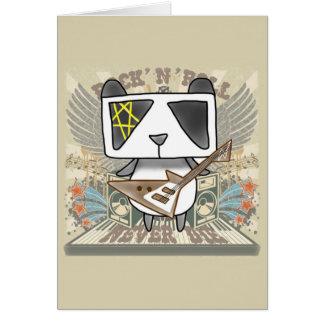 Rock 'N' Roll Panda Greeting Card
