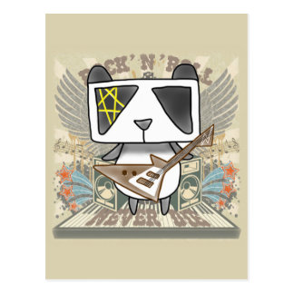 Rock 'N' Roll Panda Postcard
