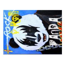 Rock n Roll Panda Postcard