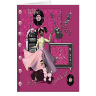 Rock n Roll Party Invitation Greeting Card