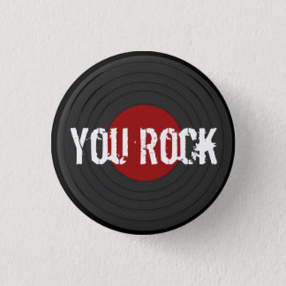 Rock N Roll Pinback Button