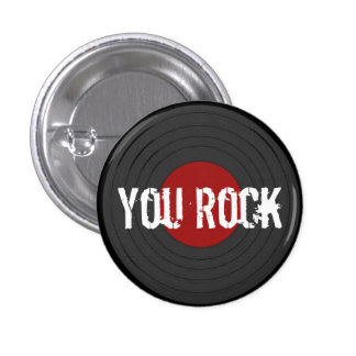 Rock N Roll Pinback Button
