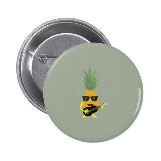 Rock 'n' Roll Pineapple Button