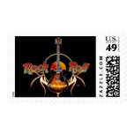 Rock n Roll Postage Stamp