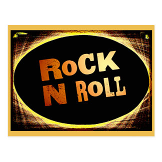 Rock N Roll Postcard