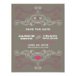 Rock 'n' Roll Poster (Pink / Pewter) Save the Date Custom Announcement