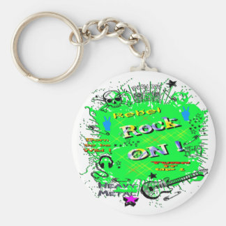 Rock n' Roll Rebel T-Shirts & Gifts Keychain