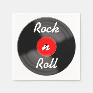 Rock n Roll Record Napkins
