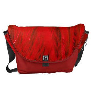 Rock n' Roll Red Feather Boa Large Messenger Bag