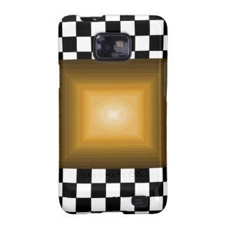 Rock n Roll Retro Gold Hipster B/W Checkerboard Samsung Galaxy S2 Cases