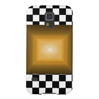 Rock n Roll Retro Gold Hipster B/W Checkerboard Galaxy S5 Cover