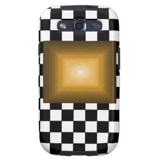 Rock n Roll Retro Gold Hipster B/W Checkerboard Samsung Galaxy SIII Case