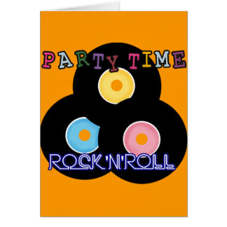 Rock 'n' Roll Retro Party Time Card