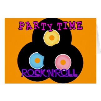 Rock 'n' Roll Retro Party Time Greeting Card