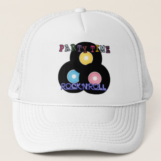 Rock 'n' Roll Retro Party Time Trucker Hat